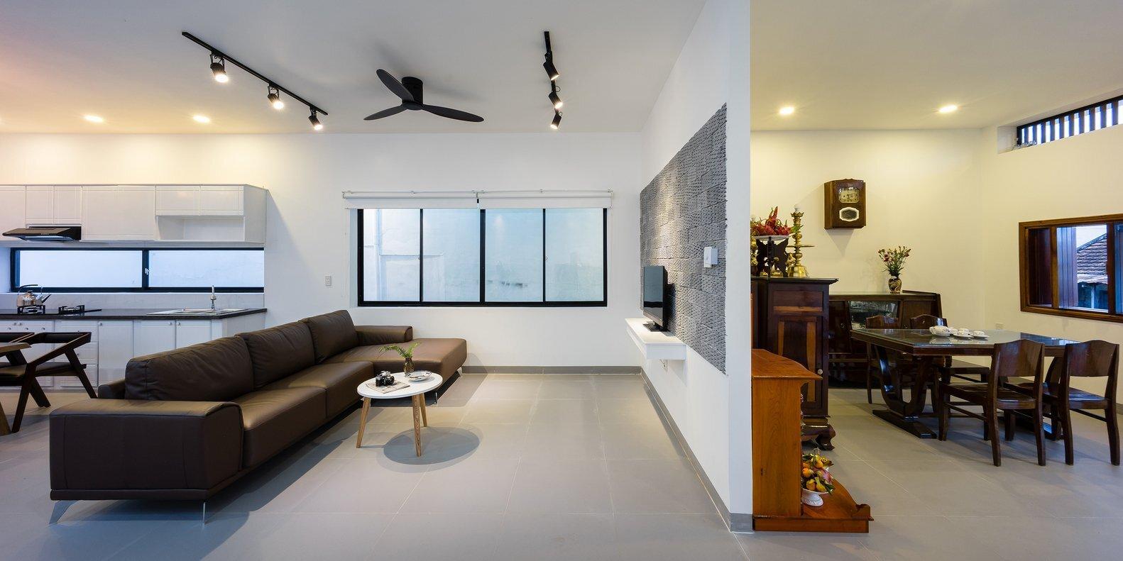 TP House - Sawadeesign Studio - Vietnam - Living Room and Worship Area - Humble Homes